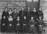 Irma Last (front row, second from the right) with her graduating class at the Deutsche Lyceum in Czernowitz, 1920. (c) United States Holocaust Memorial Museum