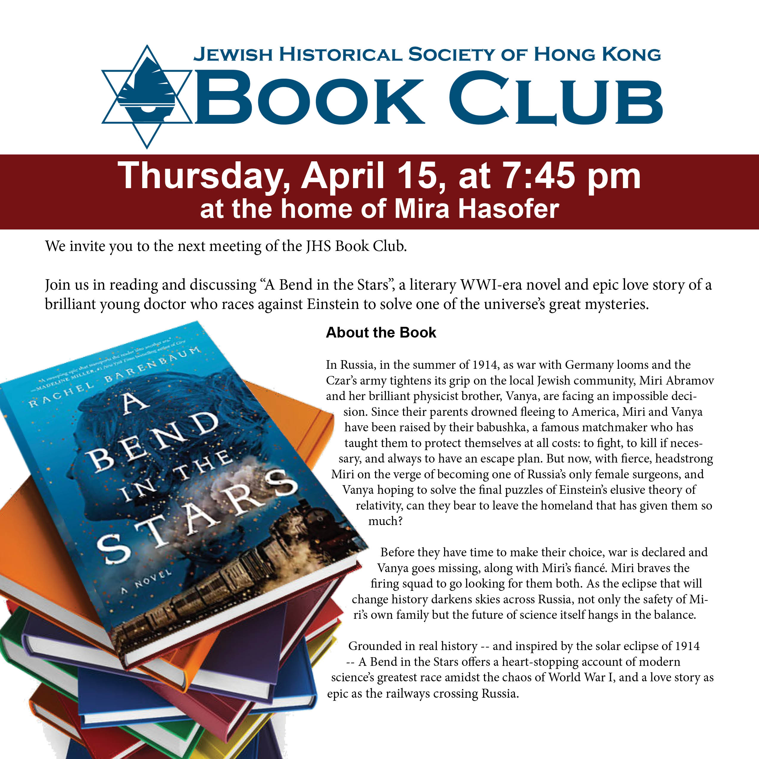 2021.04.15_Book Club Flyer_Bend in the Stars